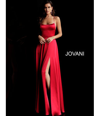 Jovani 63016 Robe coupe en A en satin