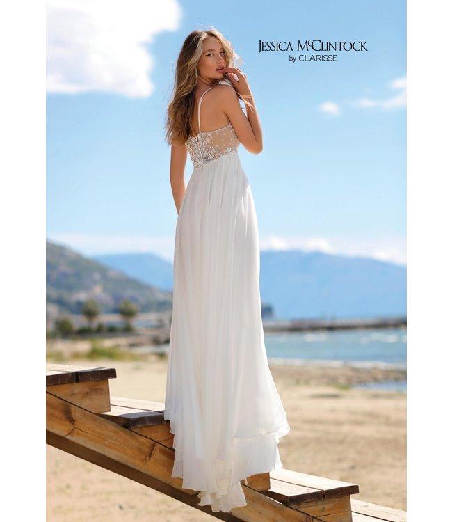 Clarisse 700119 Robe blanche fluide