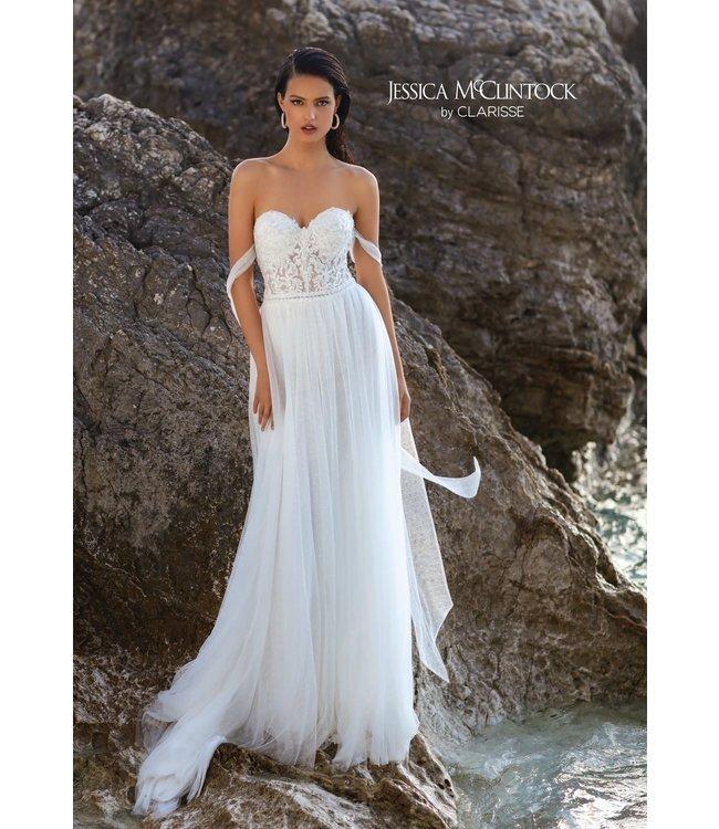 Clarisse 700103 Robe bustier blanche
