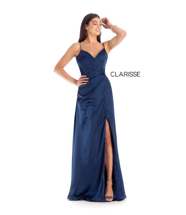 Clarisse 8143 Robe à coupe droite en satin