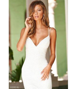 Sherri Hill 54152 Robe blanche scintillante