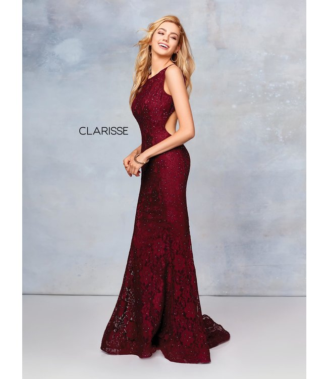 Clarisse 3748 Robe en dentelle coupe ajustée