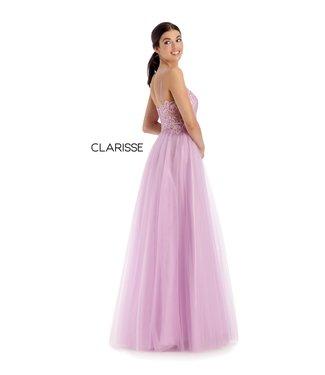 Clarisse 8161 Robe lilas en tulle