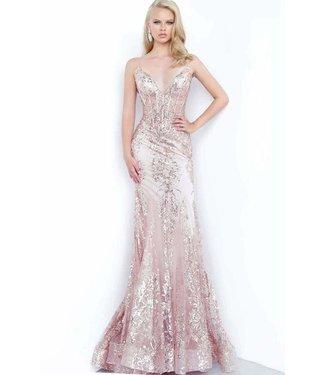 Jovani 3675 Robe rose gold effet corset