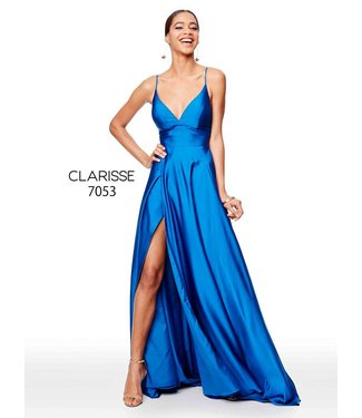 Clarisse 7053 Robe en satin coupe en A