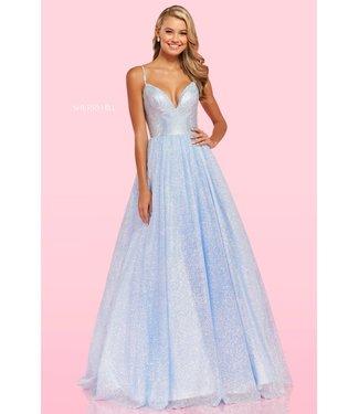 Sherri Hill 54205 Periwinkle robe princesse scintillante