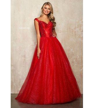 Sherri Hill 54206 Red Robe princesse scintillante