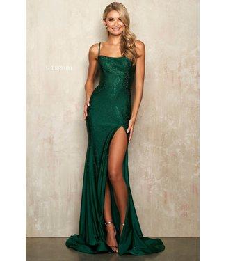Sherri Hill 54272 Emerald ajustée et scintillante