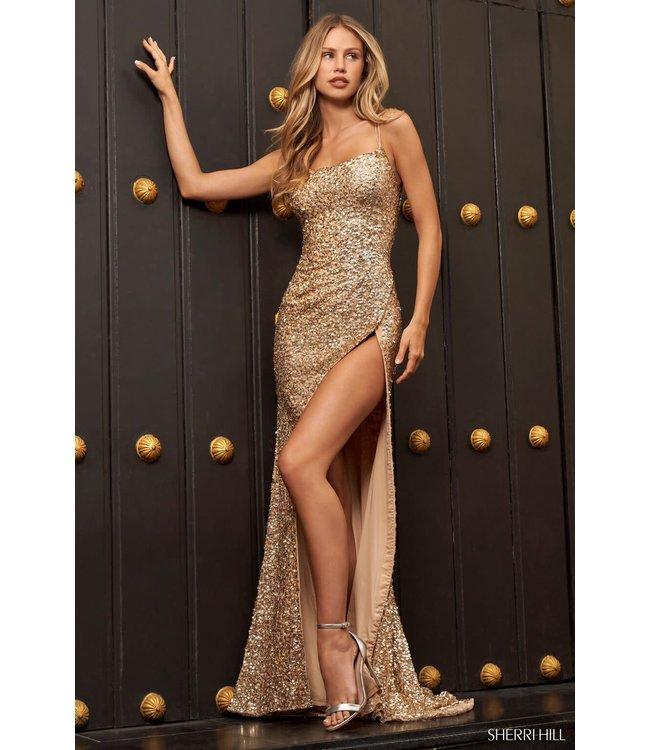 Sherri Hill 54798 Light Gold