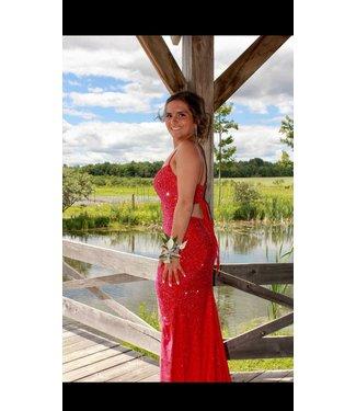 Sherri Hill 54272 Red scintillante et ajustée
