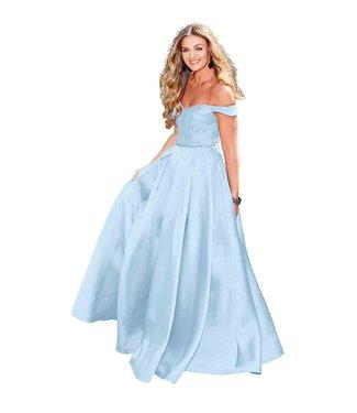 Clarisse 3762 Powder blue jupe en A
