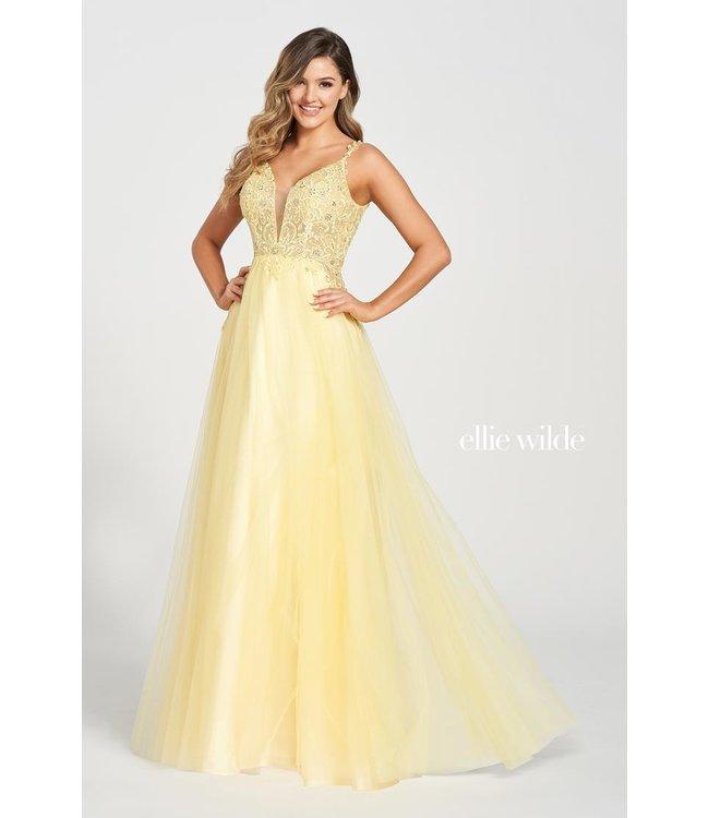 Ellie Wilde 122118 Yellow Robe fluide