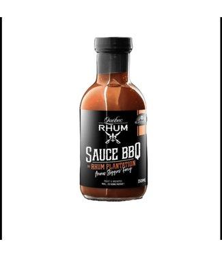 Québec Rhum Sauce BBQ  au Rhum Planatation  350ML