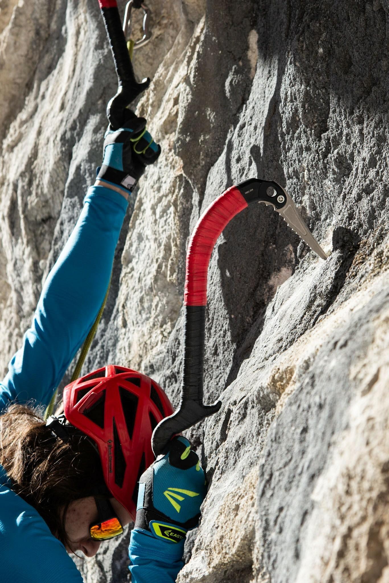 Ice Rock Aspeed climbing on rock