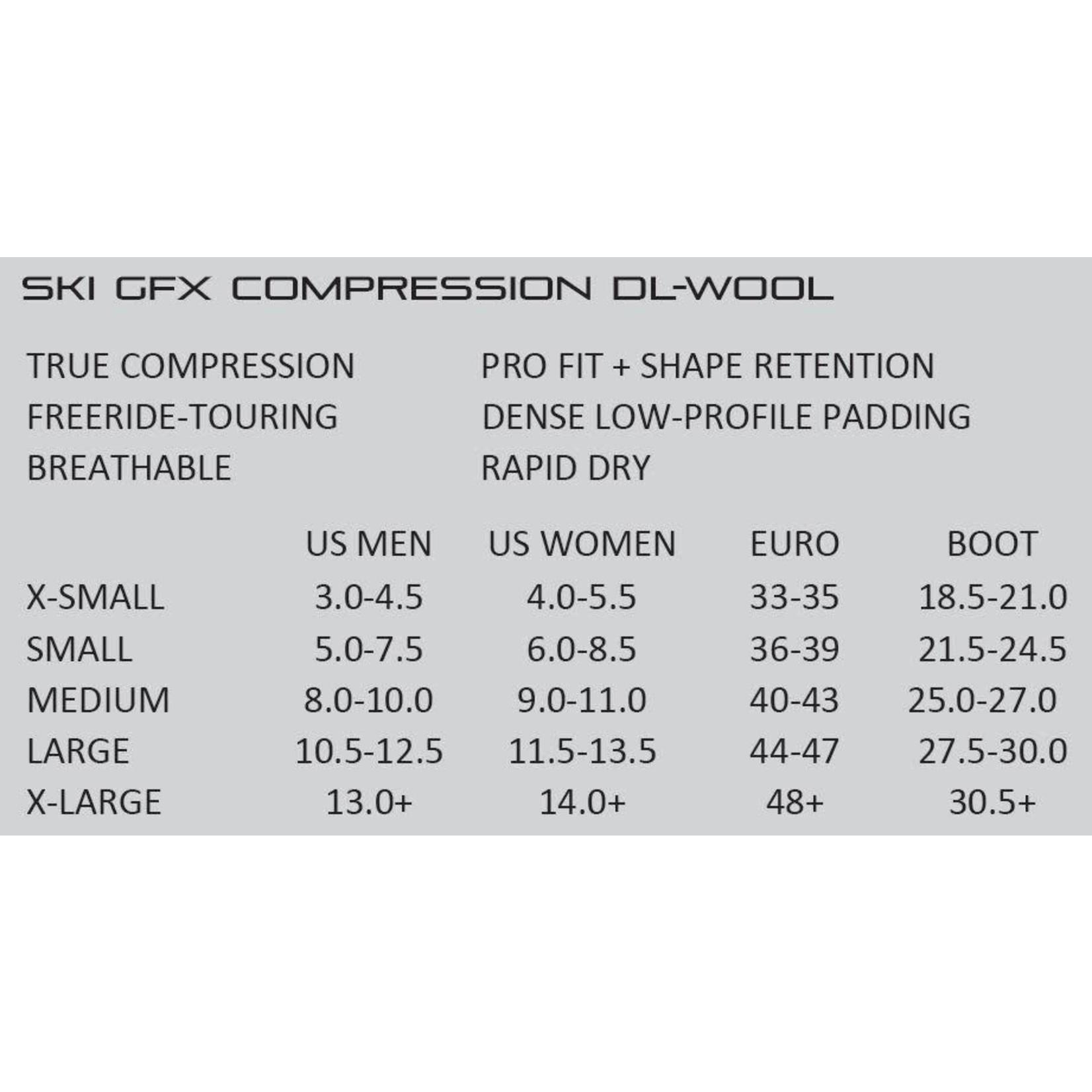 Bas de compression en laine Dissent Ski GFX DL