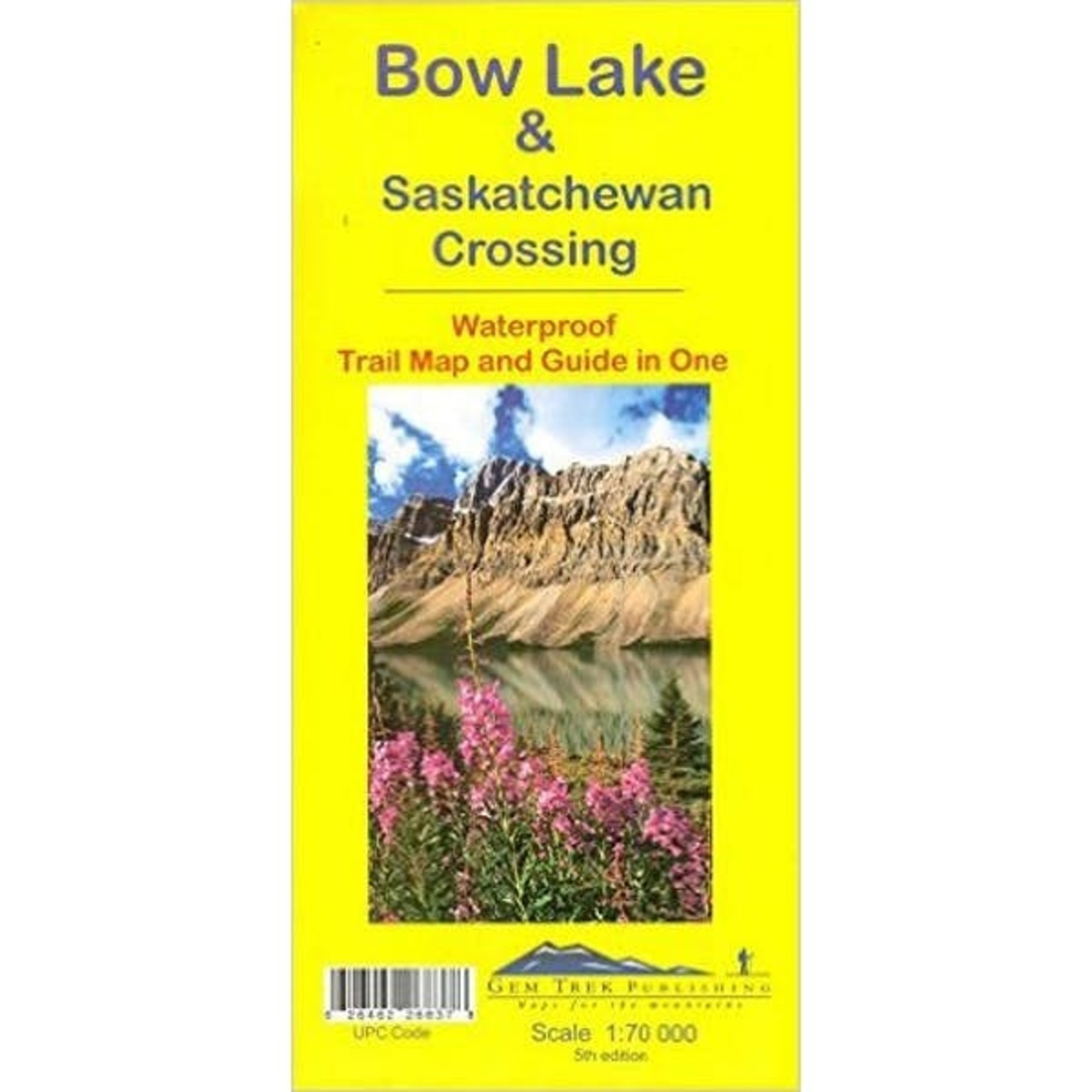 Carte Gemtrek Bow Lake & Saskatchewan Crossing