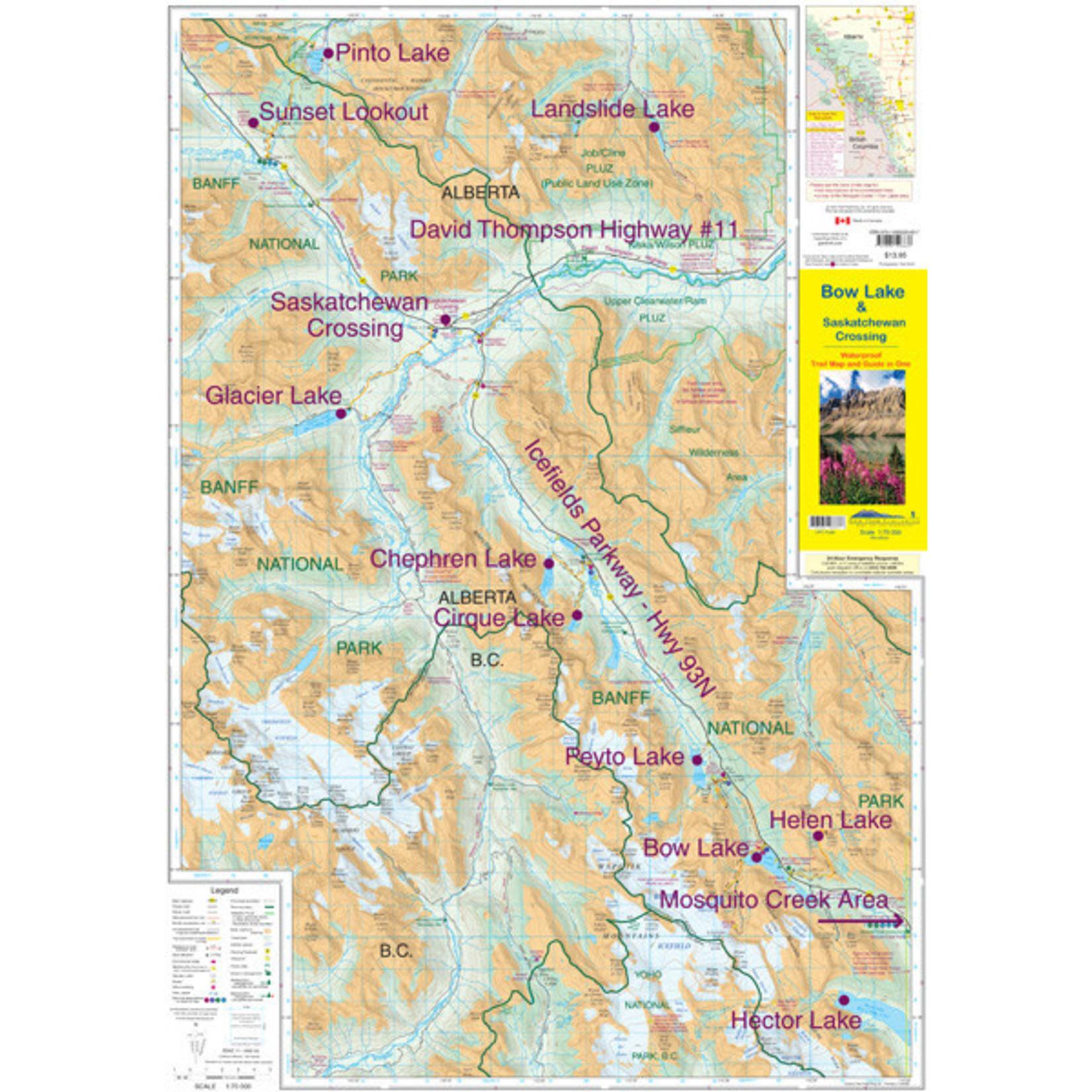 Gemtrek map Bow Lake &  Saskatchewan Crossing