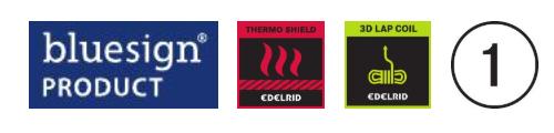 edelridd python bluesign - thermoshield - single rope logo