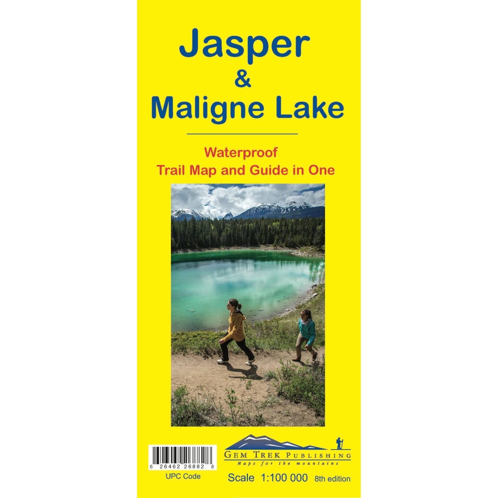 Carte topographique  Jasper &  Maligne Lake de Gemtrek