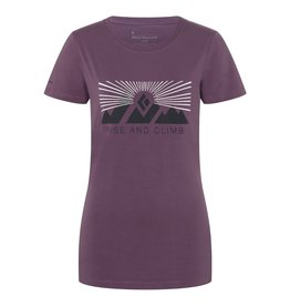 Black Diamond T-shirt Black Diamond Rise and Climb - Femme