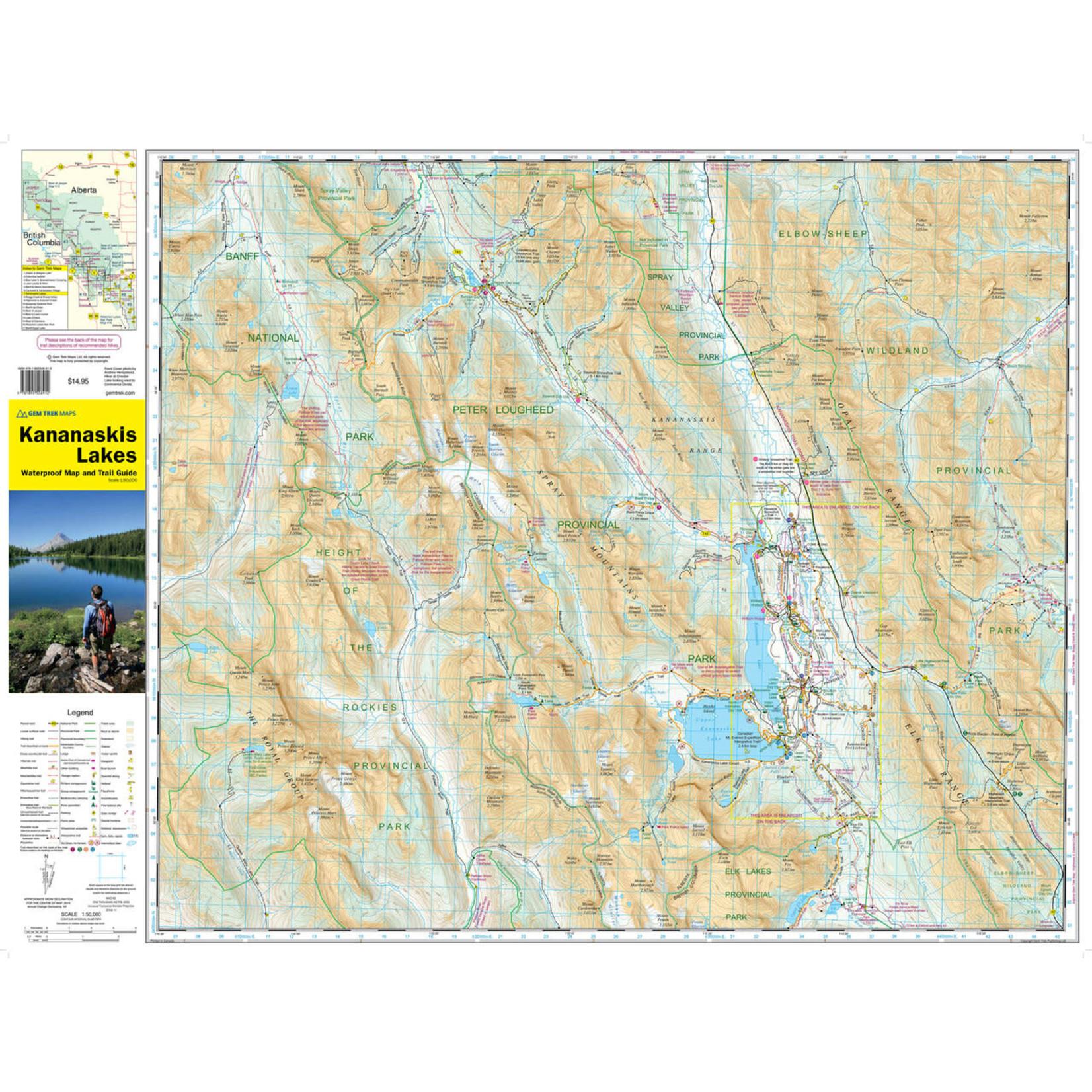 Gemtrek map Kananaskis Lakes