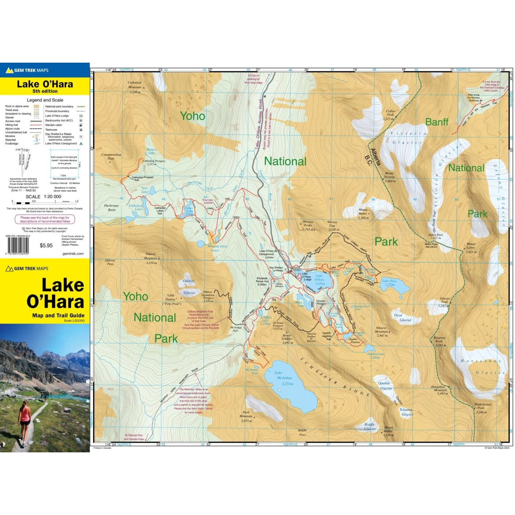 Carte Gemtrek Lake O'Hara
