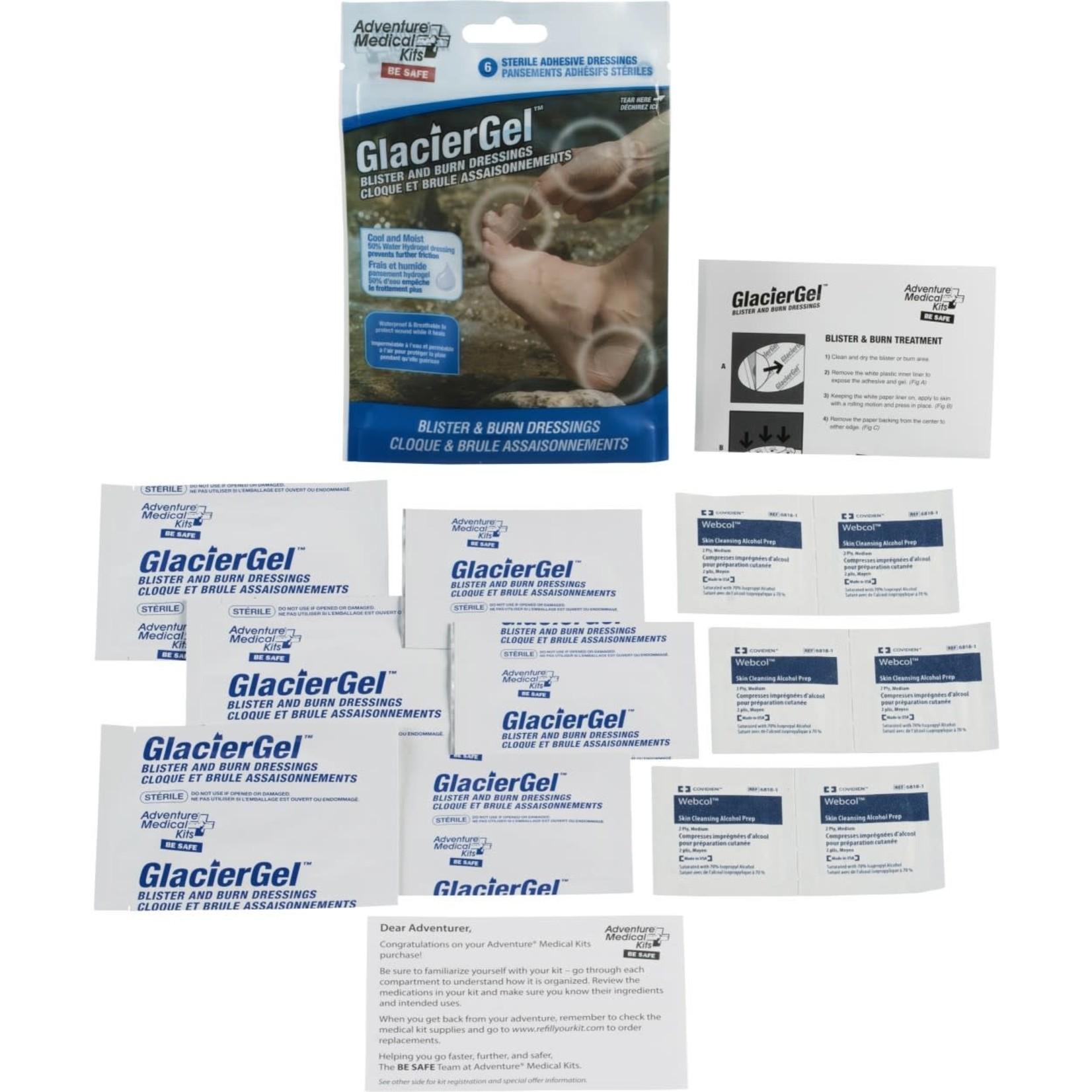 Adventure Medical Kit Pansements pour ampoules GlacierGel