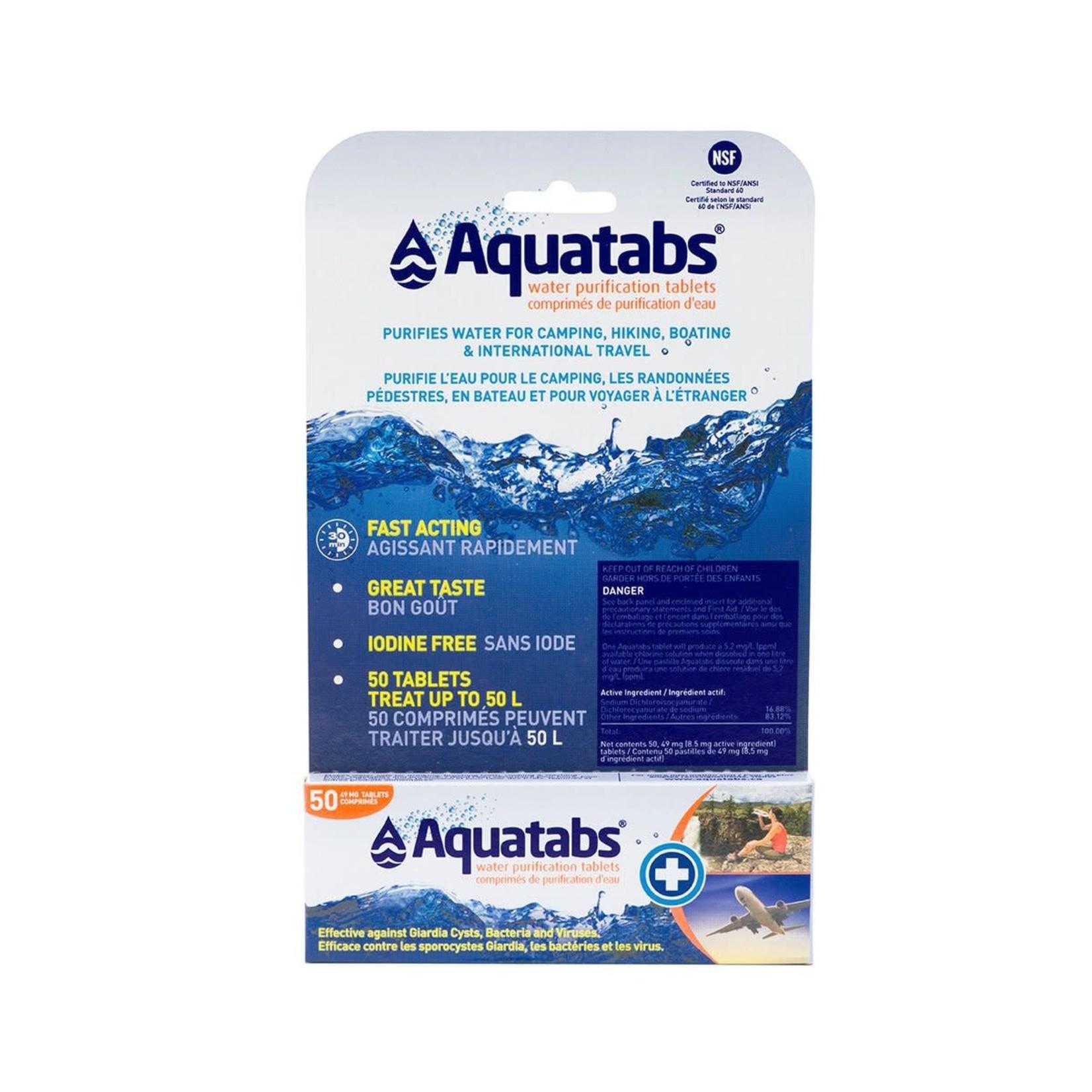Aquatabs 50 1 Liter tablets