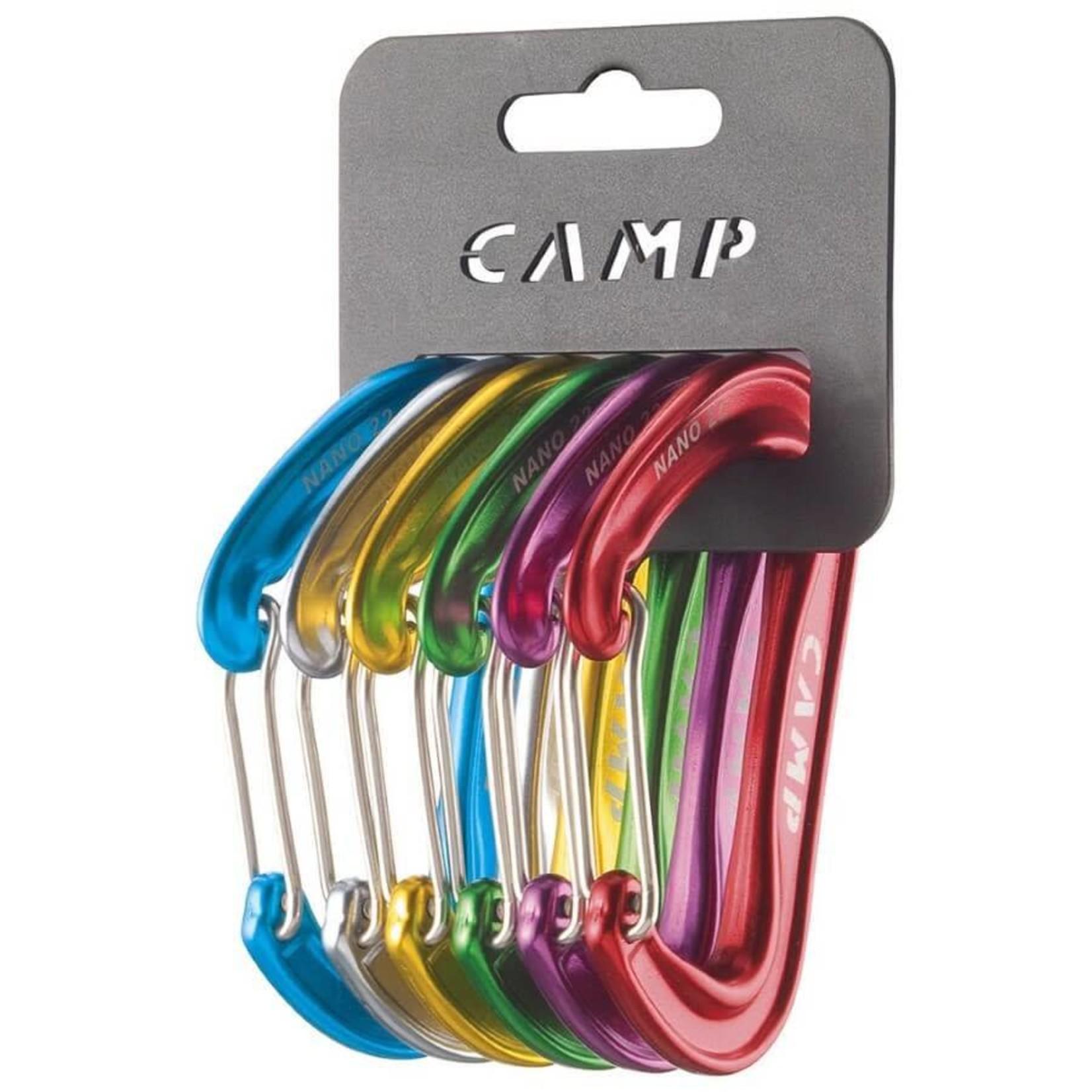 Camp Ensemble de mousquetons CAMP Nano 22 - Paquet de 6