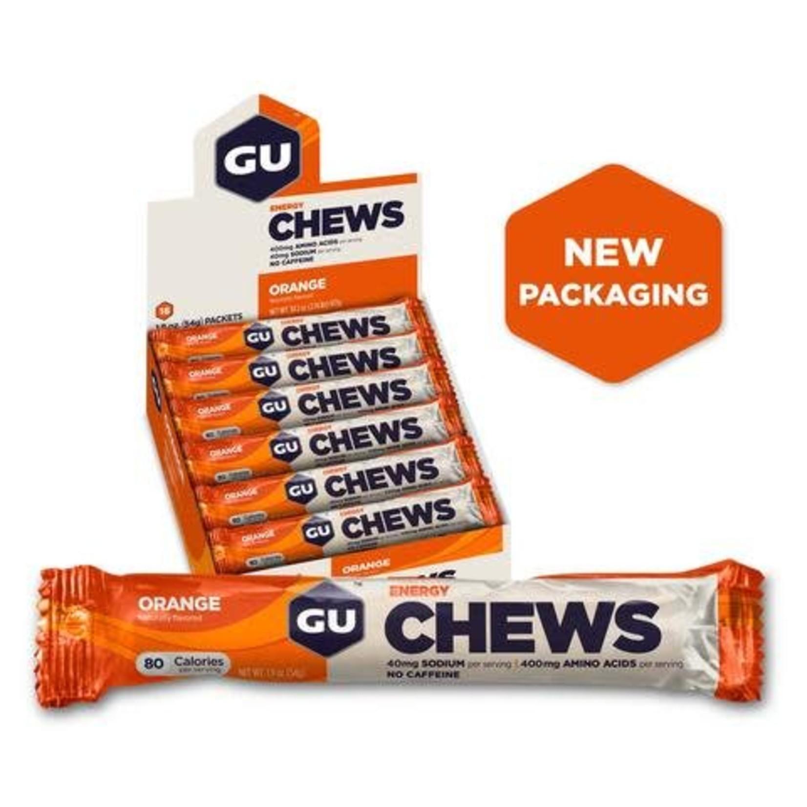 GU Double Serve Energy Chews -Orange