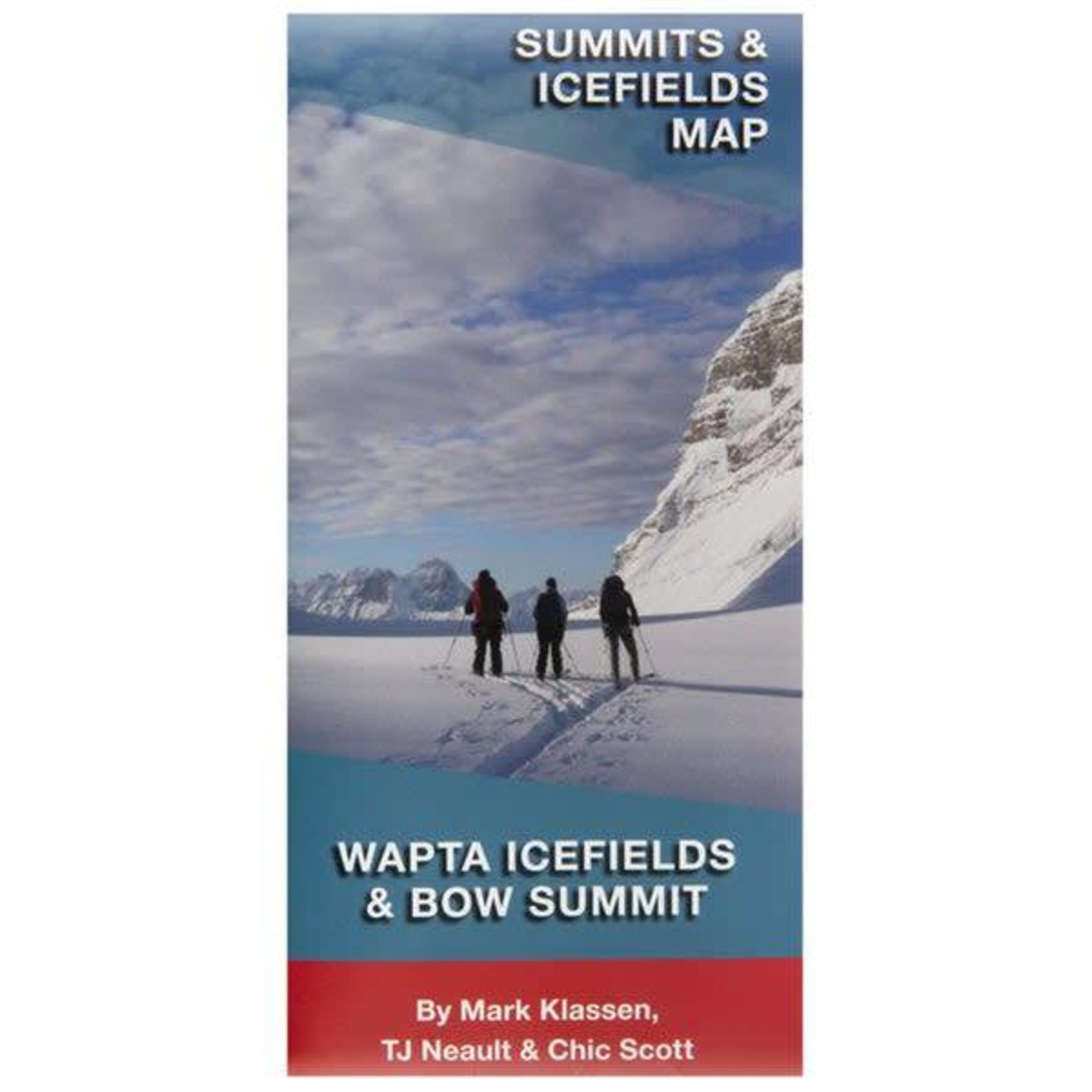 Carte Wapta Icefield and Bow Summit