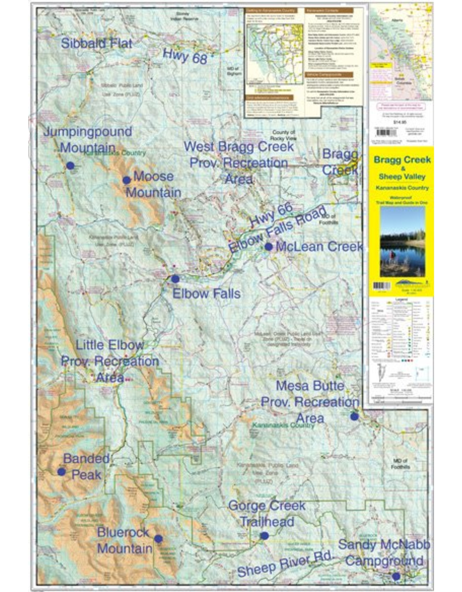 Gemtrek map Bragg Creek and Sheep Valley