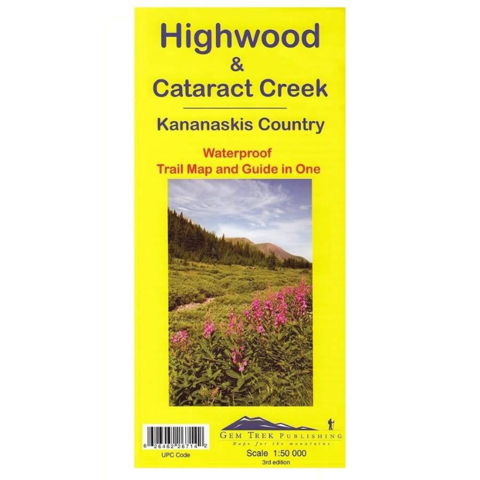 Gemtrek map Highwood & Cataract Creek