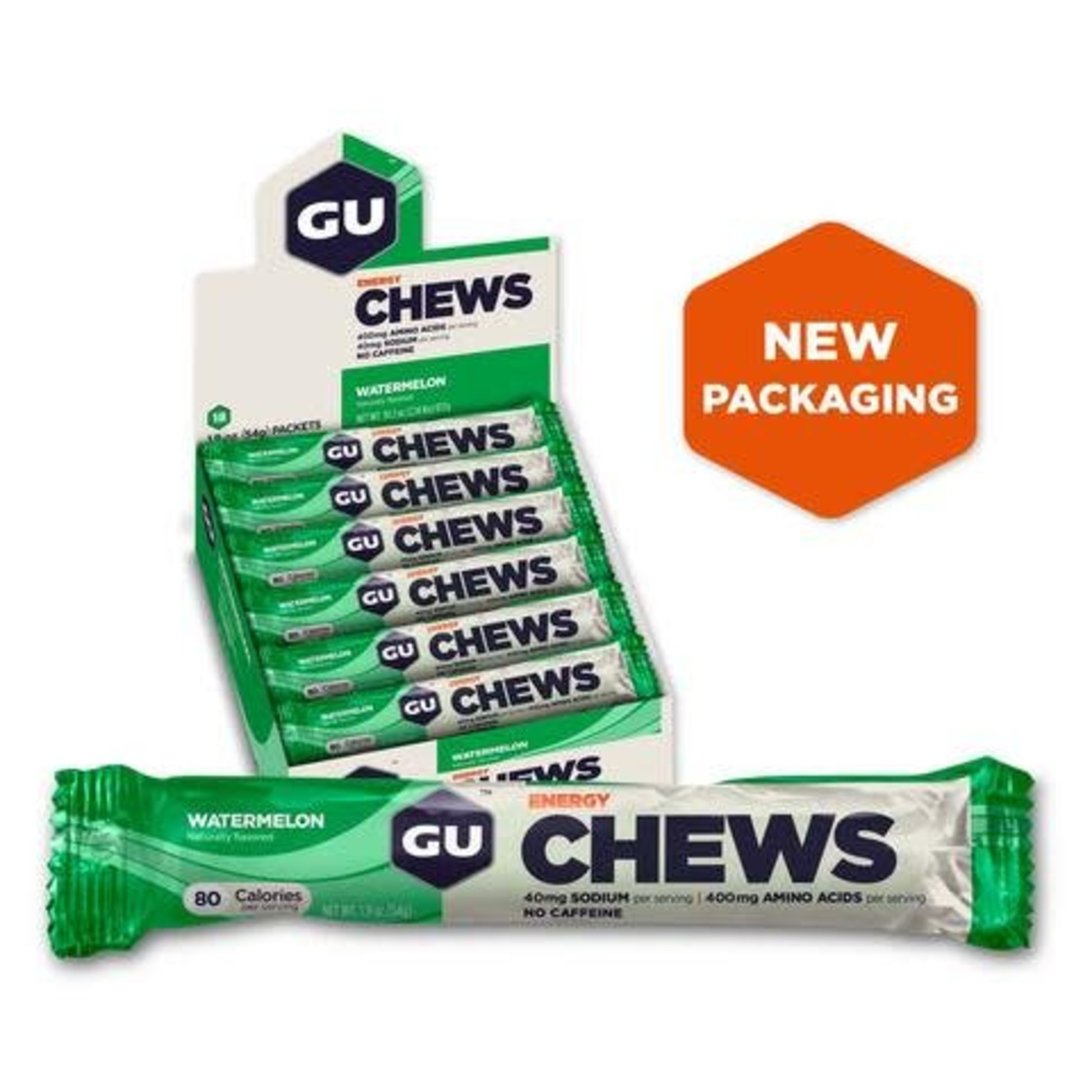 GU Double Serve Energy Chews - Watermelon
