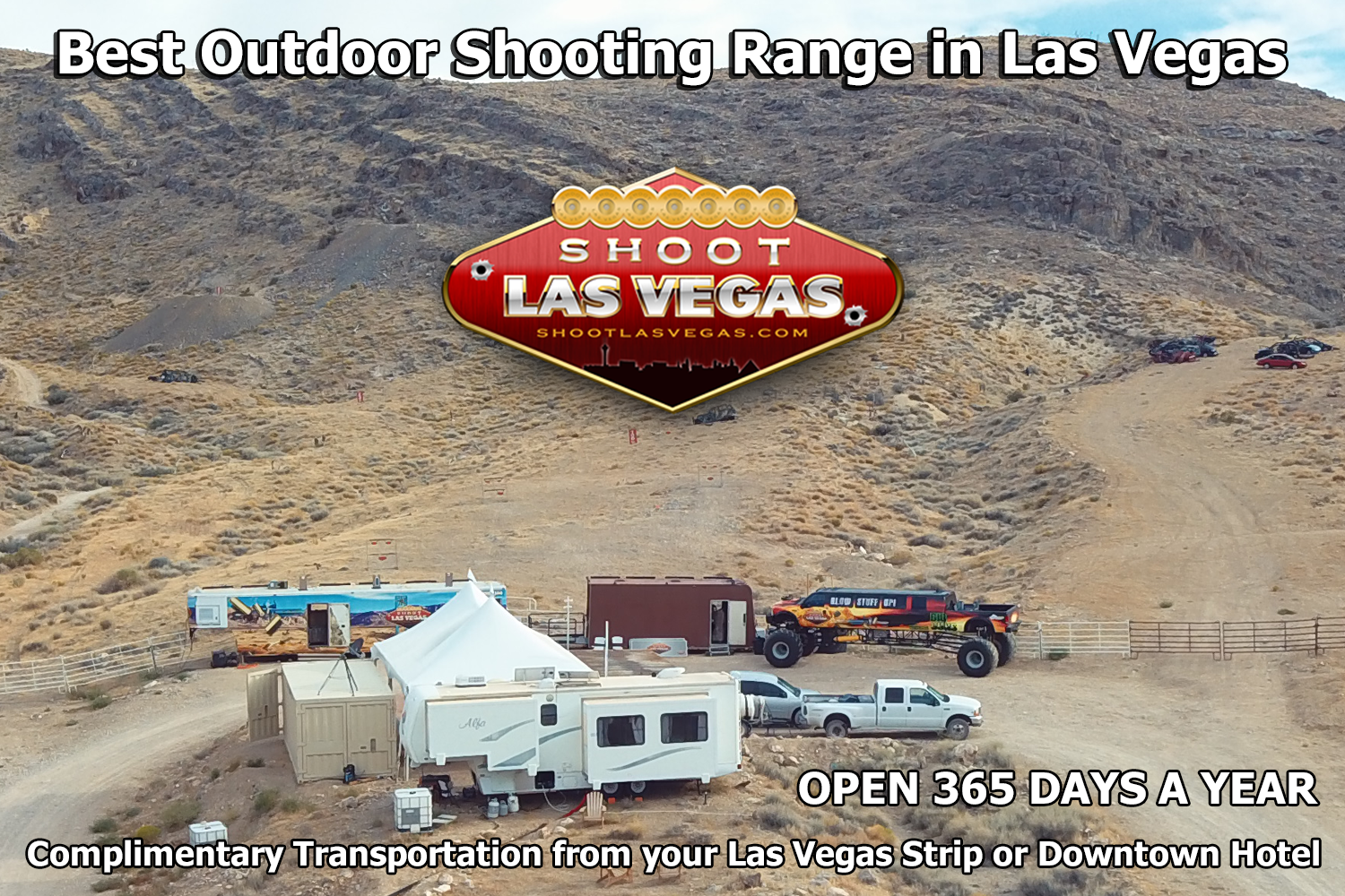 Shoot Full Auto Machine Guns at Outdoor Shooting Range