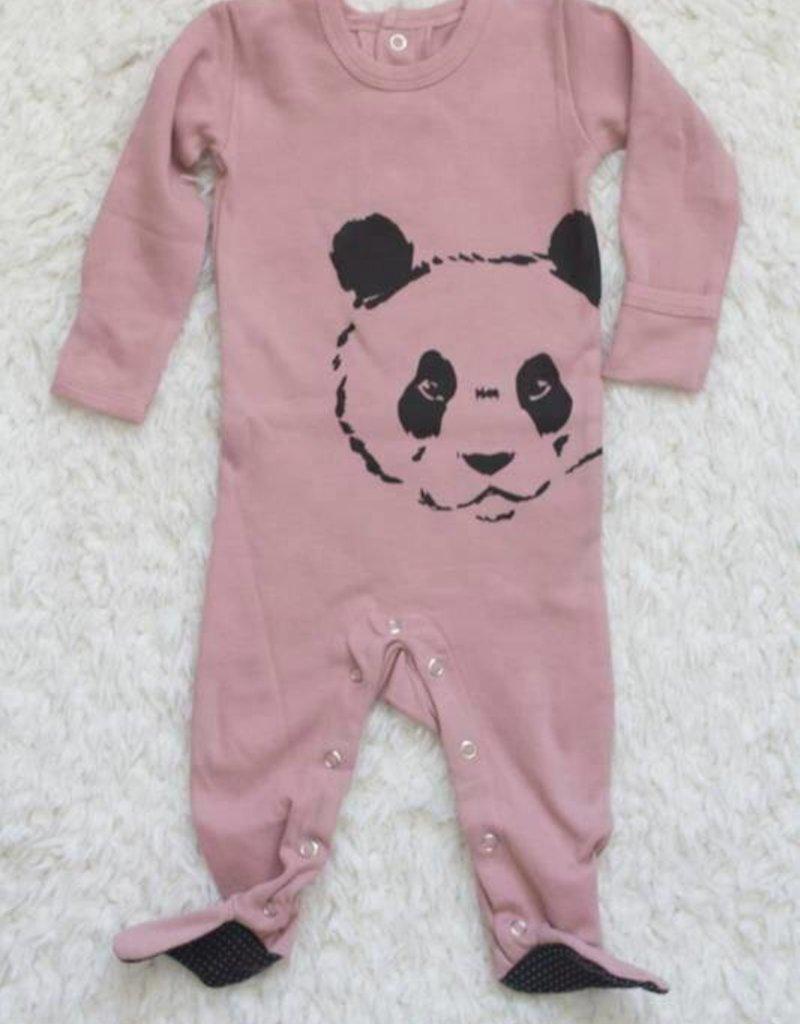 Lovedbaby Lovedbaby Panda Organic Graphic Footie