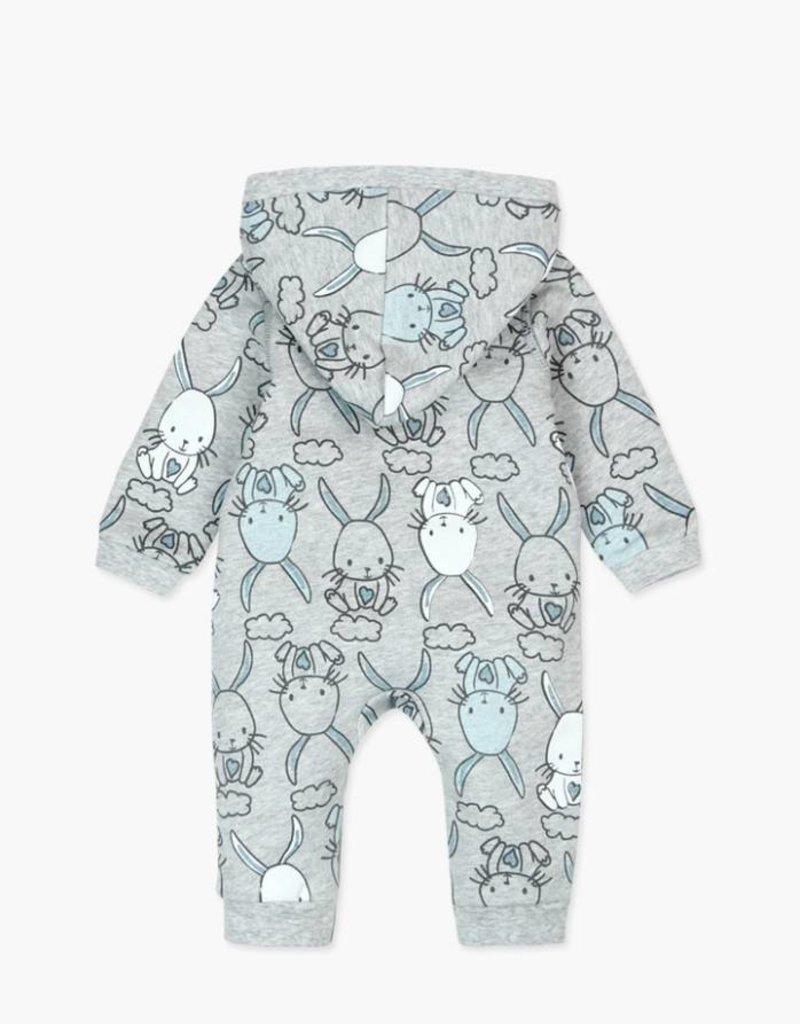 Boboli Fleece Bunny Playsuit- Blue