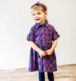RuffleButts/RuggedButts Buffalo Plaid Baby Doll Dress