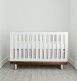 Little Unicorn Cotton Percale Crib Skirt- Warm Grey
