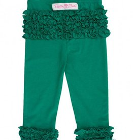 RuggedButts Emerald Ruffle Leggings