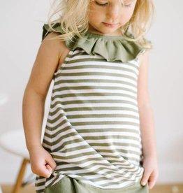 L'ovedbaby Organic Ruffle Dress, Sage 2T
