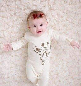 Lovedbaby Beige Giraffe Footie