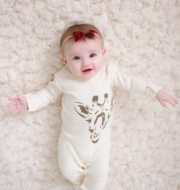 Lovedbaby Lovedbaby Beige Giraffe Footie