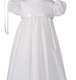 Little Things Mean A lot Baptism Gown & Bonnet - Lace collar and Hem - 24""