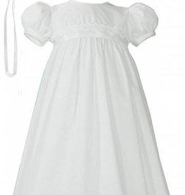 Little Things Mean A lot Girls Polycotton Baptism Gown w/bonnet - Lace trim