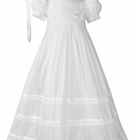 Little Things Mean A lot Girls Cotton Short Sleeve Christening dress