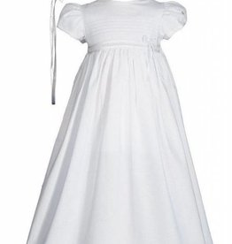 Little Things Mean A lot Girls 30″ White Cotton Christening Dress