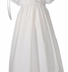Little Things Mean A lot Girls 24″ Poly Cotton Teardrop Lace Christening Baptism Gown with Bonnet