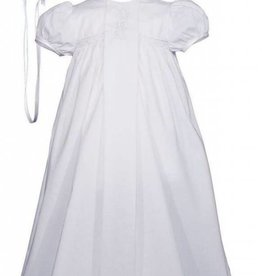 Little Things Mean A lot Girls 25″ Victorian Style Cotton Christening Baptism Gown