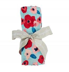 Angel Dear Angel Dear Bamboo Swaddle Blanket- Poppies